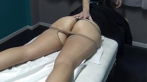 No Don't Fuck me i am Married ! Only Fingering my Pussy supposing you want but i attempt Period ! Brazilian Milf said to his Masseur and ahead to what happen ! (This is the Trial Video)