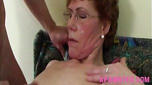 Wet horny matured granny with slim bitch cunt attracting the stepsons bushwa deep mouth