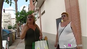 The Spanish Mommies also truancy to finish porn. BBW Blonde Mature Threesome