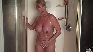 Mature wholesale in the shower