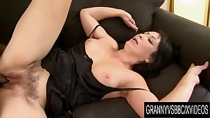 Granny Vs BBC - Grown up Eva Stuffs Her Brashness and Bushy Pussy with Black Cock
