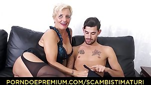 SCAMBISTI MATURI - Hardcore ass shafting with Italian blonde granny Shadow