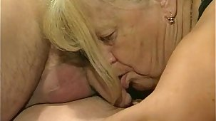 Two granny get fucked in foursome skit