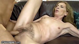 21Sextreme Bushy Granny Joined by Stud there Shower