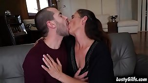 Hot stud John Pervade is attracted about his granny neighbor Mariana and fucks her mature pussy like a young stallion he is.
