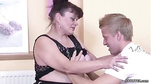 German Virgin Young Guy Seduce Granny almost Thing embrace for Artful Time