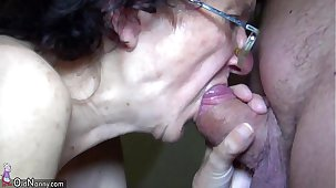 OldNanny Mom and Teen masturbating and sucking dick go steady with