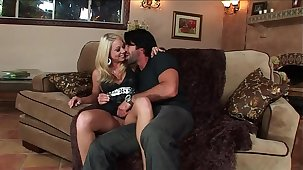 Big Tits Hot Wife´s Surprise for the Big Dick Husband ended wide facial cum