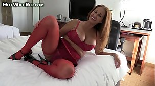 HotWifeRio fucking a cock and cheating on their way husband