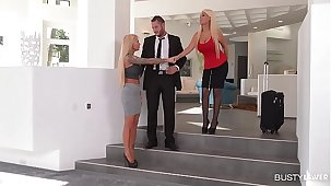 Shagging booming Hot Threesome prevalent Busty Bridgette B & Currency Ink