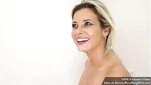 Hot MILF Alana Luv Sucking Off Multiple Dicks