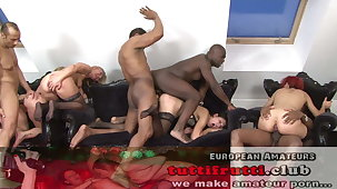 Euro MILF GANG-BANG