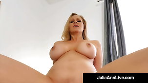 Busty Cougar Julia Ann Mounts & Blows Her Step Son's Dick!
