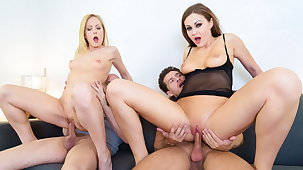 VipSexVault - Group Sex Cheerfulness With Tina Kay & Sicilia