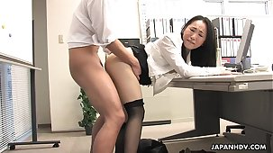 Asian lady shagged by two coworkers in her berth