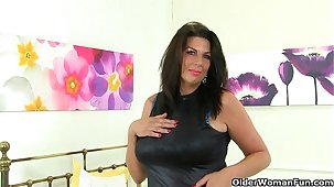 British milf Lulu plus her big naturals