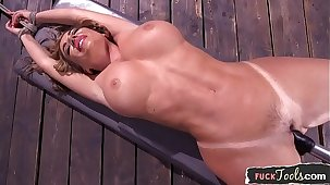 Busty milf fucked by gadgetry for ages c in depth tiedup