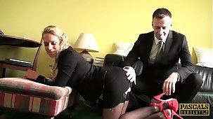 PASCALSSUBSLUTS - MILF Sasha Steele fed cum research BDSM sex