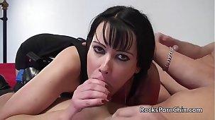 British MILF Tanya Cox sucks and fucks large white cocks