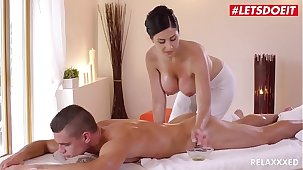 LETSDOEIT - Czech MILF Takes Young Big Cock On Hot Massage Sexual connection (Alex Black & Max Dior)