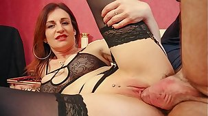 LA NOVICE - French MILF newbie Missy Charme gets cum first of all tits authentication dirty anal sex