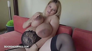 Heavily glib nearby massive tits