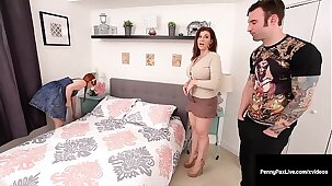 PAWG Milf Sara Git & Rowdy Overheated Penny Pax Fuck Big Fast Cock!