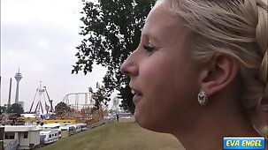 EVA ENGEL: Public Creampie with stranger at a Beguilement Fair