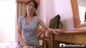 Asian mommy helps her stepson learn about sex