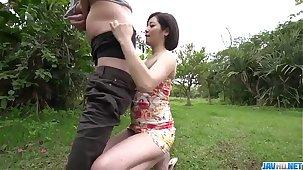 Showman Asian woman, Minami Asano, full porn up outdoor  - More at javhd.net